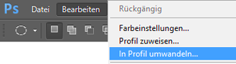PSD-Profilumwandeln